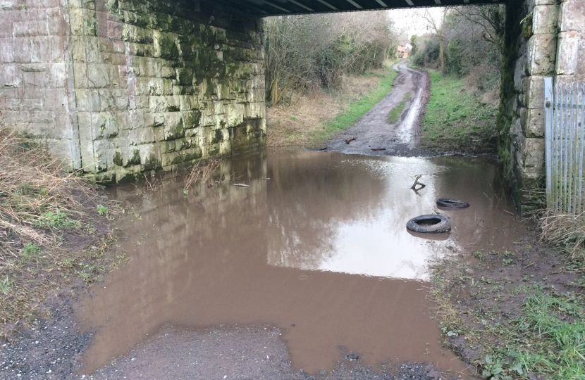 Cllr Nigel Jones call for action to sort out the Flooding New House Lane